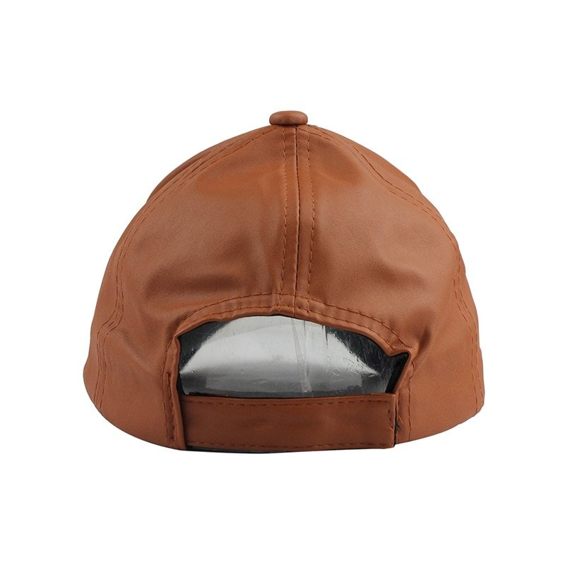 FETSBUY New High Quality Leather Cap Biker Trucker Caps PU Solid Color HIP HOP Snapback Baseball Cap Fitted Adjustable Hat 2017 7