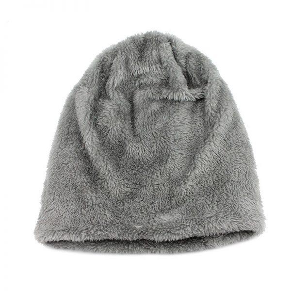 FETSBUY Pure Color Winter Skullies Beanies Hat Knit Winter Hat For Man Warm Hat Velvet Cap Bonnet Toucas Inverno Knitted Hats 5