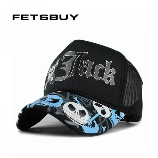 FETSBUY Summer Baseball Cap Breathable Fashion Hat Mesh Cap Adjustable Man Bone Women Casquette Hats For Men Cap Fitted New 2