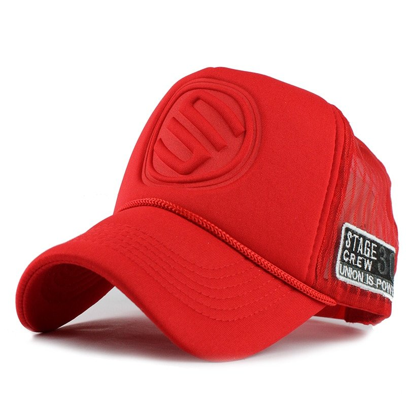 FETSBUY Summer Male And Female Trucker Hats Fitted Casual Hip-hop Street Mesh Hat Casquette Cap Unisex Print Baseball Caps 5