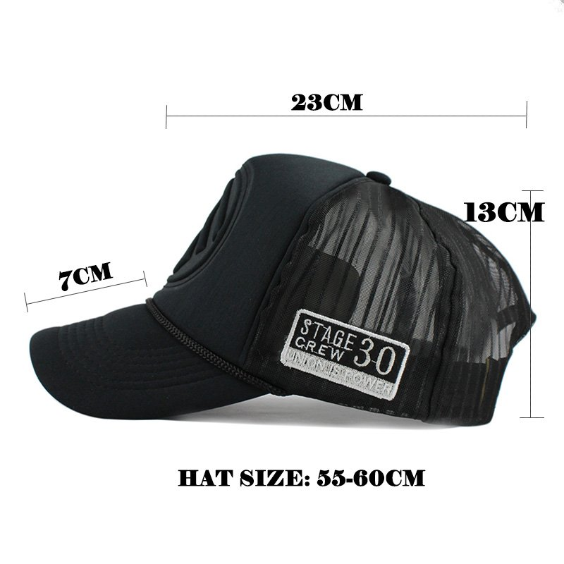 FETSBUY Summer Male And Female Trucker Hats Fitted Casual Hip-hop Street Mesh Hat Casquette Cap Unisex Print Baseball Caps 11