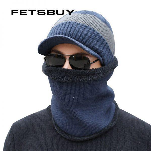 FETSBUY Winter Hats Skullies Beanies Hat Winter Beanies For Men Women Wool Scarf Caps Balaclava Mask Gorras Bonnet Knitted Hat 4
