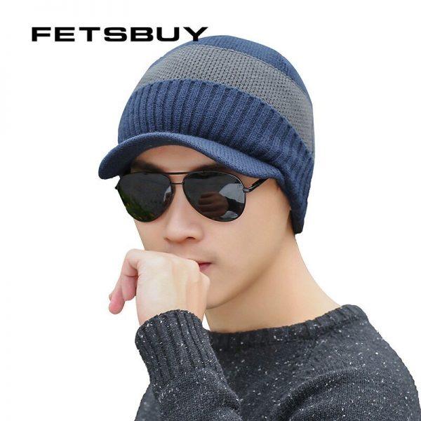 FETSBUY Winter Hats Skullies Beanies Hat Winter Beanies For Men Women Wool Scarf Caps Balaclava Mask Gorras Bonnet Knitted Hat 6
