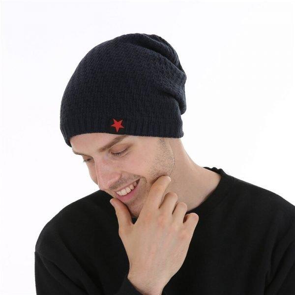 FETSBUY Winter Hats Skullies Beanies Hat Winter Beanies For Men Women Wool Scarf Caps Balaclava Mask Gorras Bonnet Knitted#19007 4