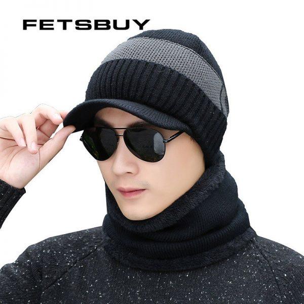 FETSBUY Winter Hats Skullies Beanies Hat Winter Beanies For Men Women Wool Scarf Caps Balaclava Mask Gorras Bonnet Knitted Hat 2