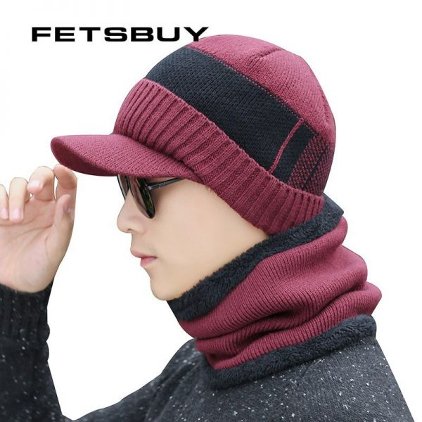 FETSBUY Winter Hats Skullies Beanies Hat Winter Beanies For Men Women Wool Scarf Caps Balaclava Mask Gorras Bonnet Knitted Hat 10
