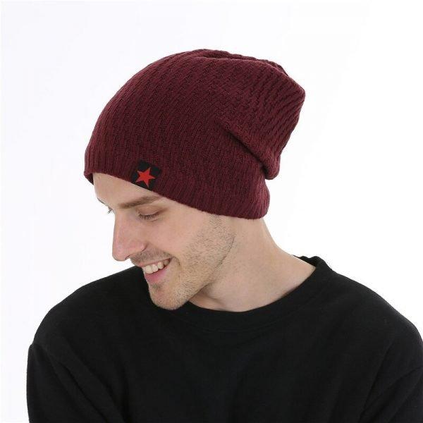 FETSBUY Winter Hats Skullies Beanies Hat Winter Beanies For Men Women Wool Scarf Caps Balaclava Mask Gorras Bonnet Knitted#19007 8