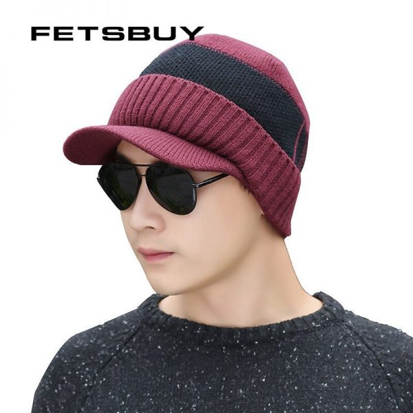 FETSBUY Winter Hats Skullies Beanies Hat Winter Beanies For Men Women Wool Scarf Caps Balaclava Mask Gorras Bonnet Knitted Hat 12