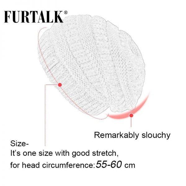 FURTALK Slouchy Beanie Winter Hat for Women Knitted Warm Fleece Lining Hat for Female Skullies Beanies Red Yellow Black Grey Cap 5