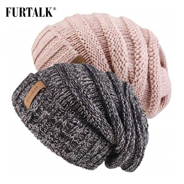 FURTALK Winter Knitted Hat Women Hat Slouchy Beanie for Girls Skullies Cap A047 6