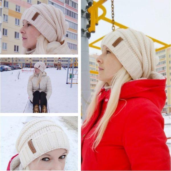 FURTALK Winter Knitted Hat Women Hat Slouchy Beanie for Girls Skullies Cap A047 12