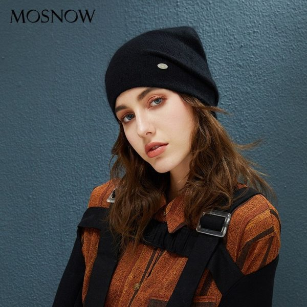 Female Beanies Rabbit Hair Winter Hats For Women Casual Autumn Knitted Beanie Girls 2019 New Fashion High Quality Soft Wool Hat 4