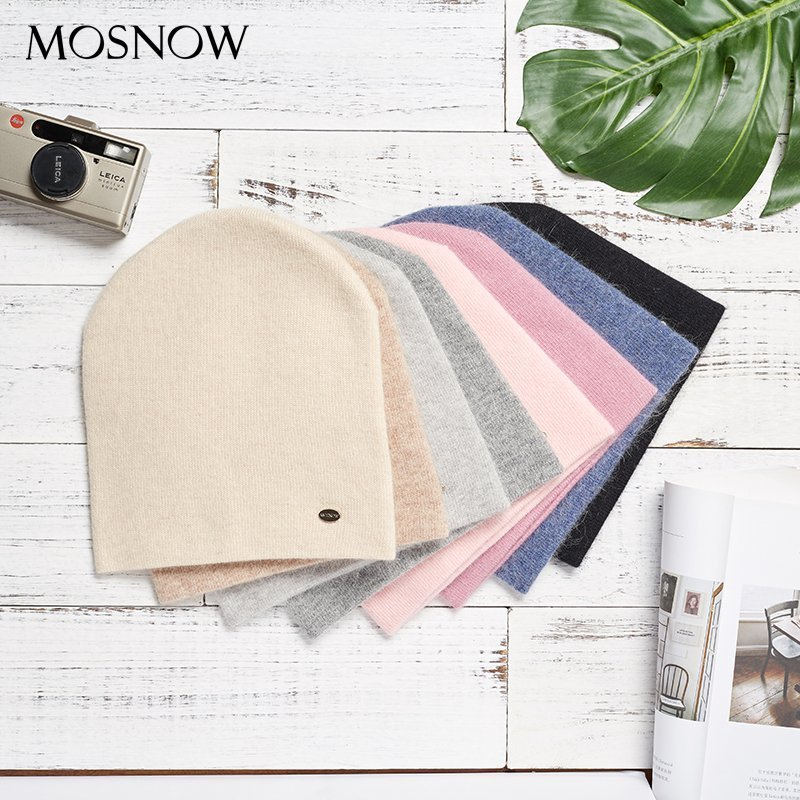 Female Beanies Rabbit Hair Winter Hats For Women Casual Autumn Knitted Beanie Girls 2019 New Fashion High Quality Soft Wool Hat 9