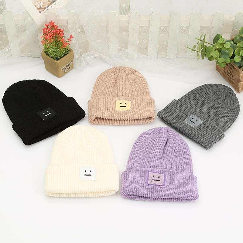 Men Women Fashion Knitted Cap Warm Casual Hat for Autumn Winter Outdoor Hat