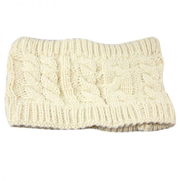 NIBESSER Fashion Snowboard Warm Knitted Cap Snap Skullies Bonnet Beanie No Top Wool Hat Women Multi-purpose Hat 8