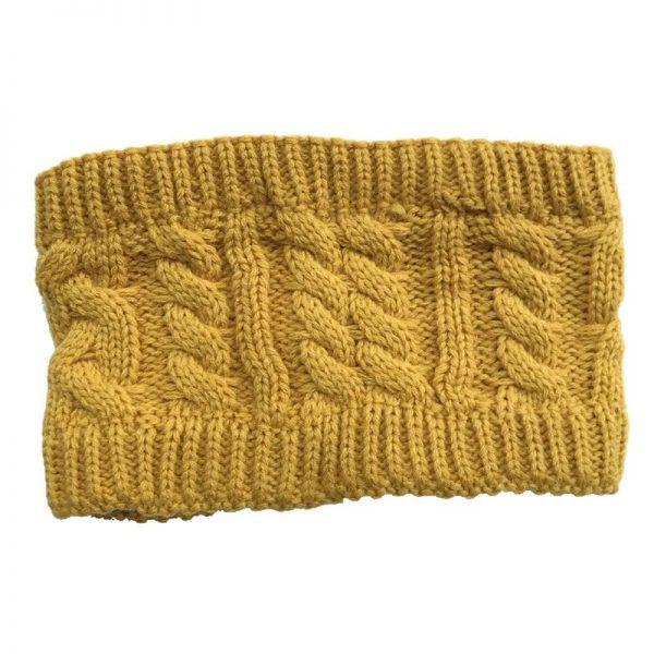 NIBESSER Fashion Snowboard Warm Knitted Cap Snap Skullies Bonnet Beanie No Top Wool Hat Women Multi-purpose Hat 12