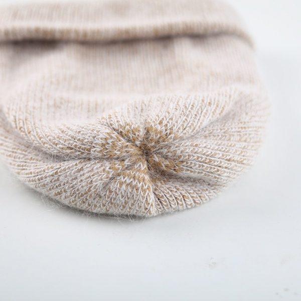 Women knitted Winter Hat female Warm Rabbit fluff beanie Girl Solid Bonnet femme Skullies beanies Soft Hats Women's Winter Caps 12