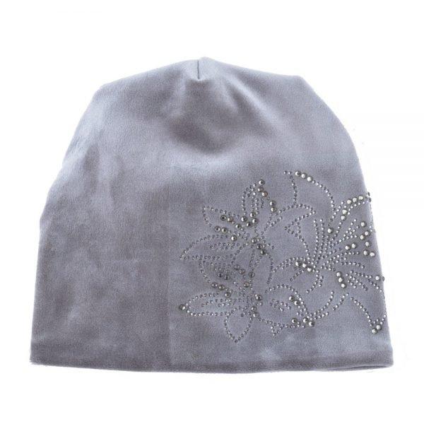 Women's Fashion Rhinestone Flower Hat Scarf Winter Warm Beanies Scarves Set For Girls Thick Velvet Bonnet Femme Skullies Caps 4