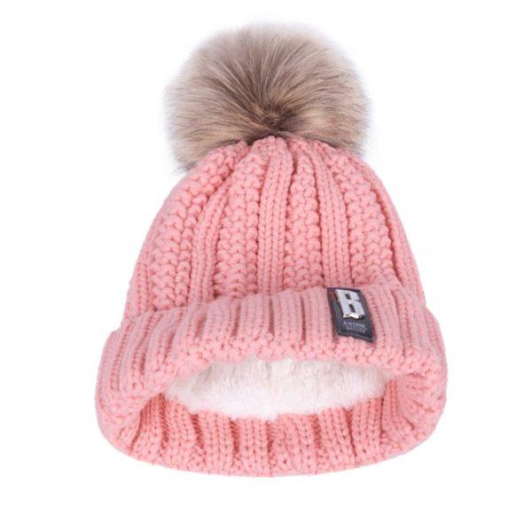 Women's Winter Hat Cotton Knit Fashion Winter Warm Beanie Hat Adjustable Hood Soft Pompom Hat Outdoor Sports 10