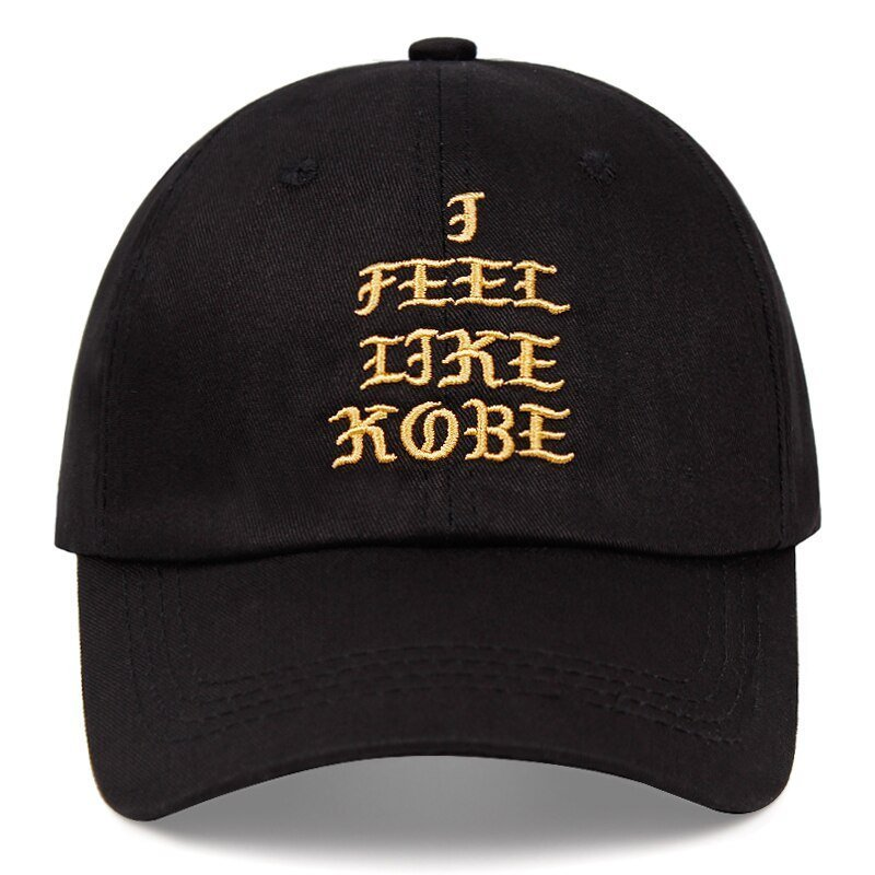 Kobe Bryant dad hat I FEEL LIKE KOBE cotton embroidered baseball cap Snapback black Mamba 24 casual hat hip-hop outdoor caps 13