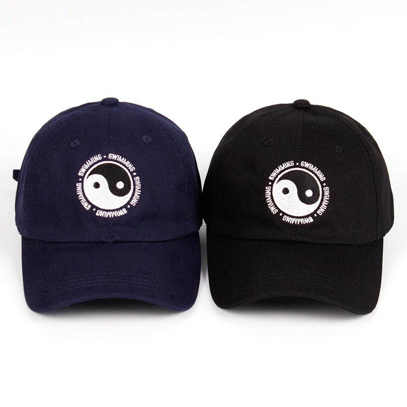 Mac Miller Dad Hat 100% Cotton Swimming Yin and Yang Gossip Embroidered Hat Snapback Baseball Cap For Men And Women Dropship 1
