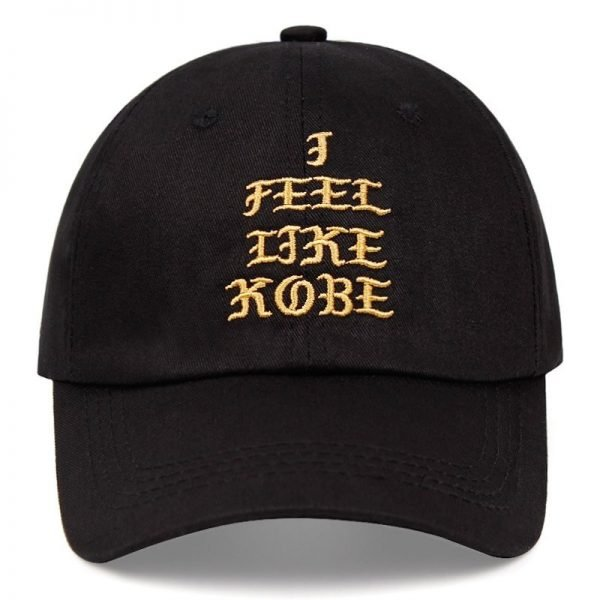 Kobe Bryant dad hat I FEEL LIKE KOBE cotton embroidered baseball cap Snapback black Mamba 24 casual hat hip-hop outdoor caps 4