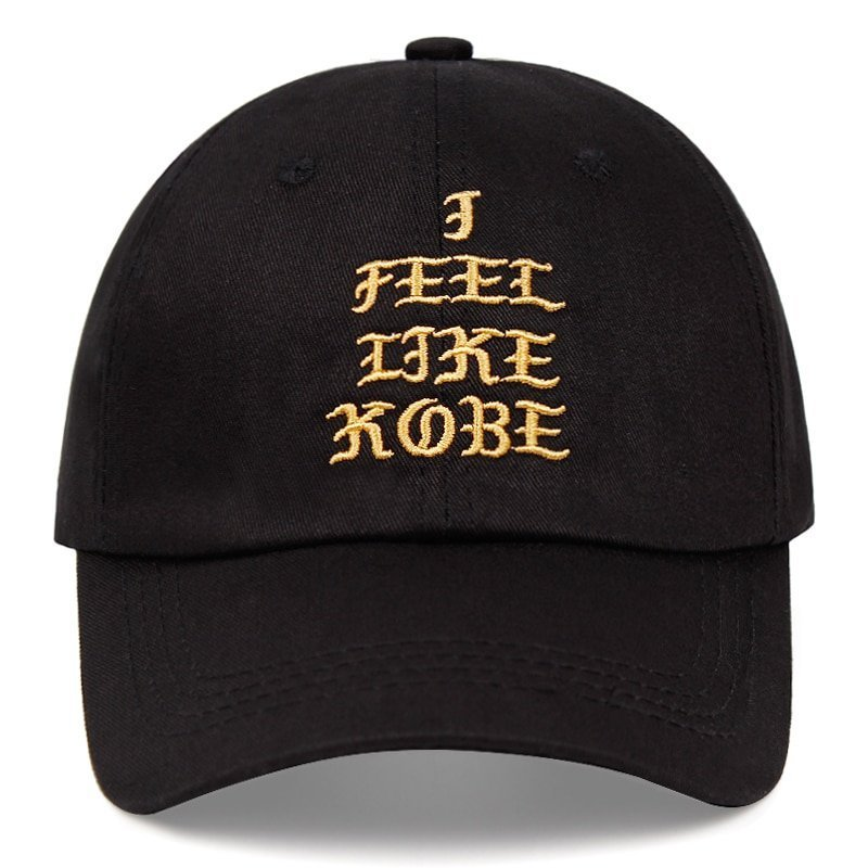 Kobe Bryant dad hat I FEEL LIKE KOBE cotton embroidered baseball cap Snapback black Mamba 24 casual hat hip-hop outdoor caps 3
