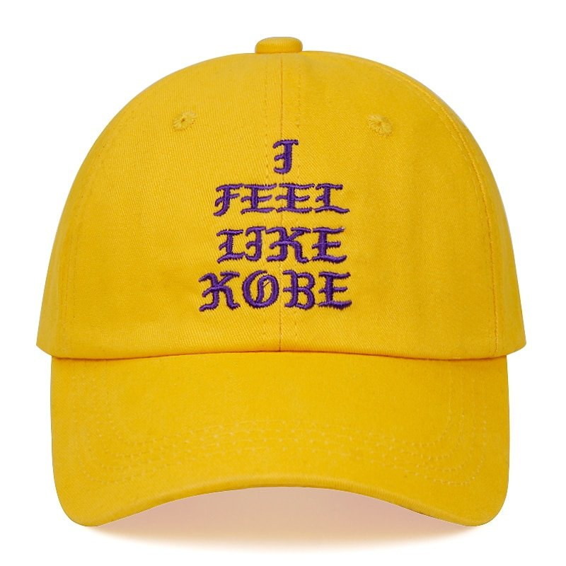 Kobe Bryant dad hat I FEEL LIKE KOBE cotton embroidered baseball cap Snapback black Mamba 24 casual hat hip-hop outdoor caps 5