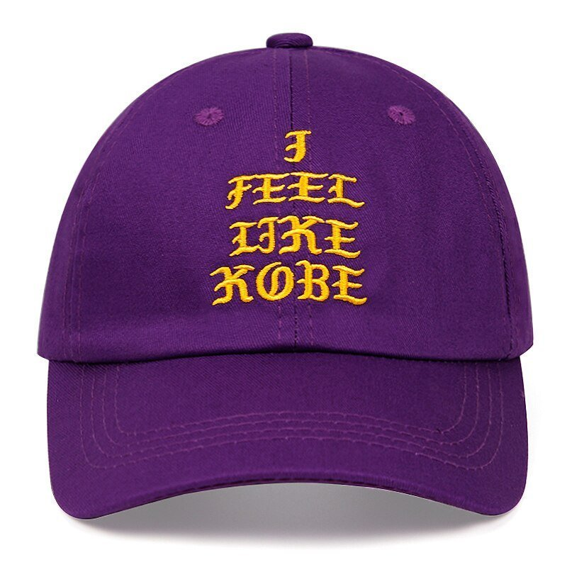 Kobe Bryant dad hat I FEEL LIKE KOBE cotton embroidered baseball cap Snapback black Mamba 24 casual hat hip-hop outdoor caps 11