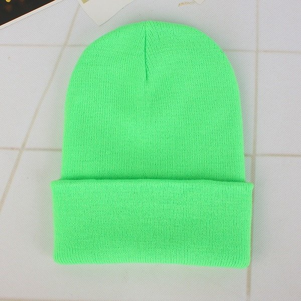 CAP SHOP 2020 Winter Hats for Woman New Beanies Knitted Solid Cute Hat Girls Autumn Female Beanie Caps Warmer Bonnet Ladies Casual Cap COLOR LIGHT GREEN 2