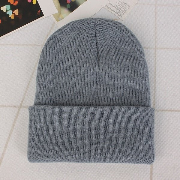 CAP SHOP 2020 Winter Hats for Woman New Beanies Knitted Solid Cute Hat Girls Autumn Female Beanie Caps Warmer Bonnet Ladies Casual Cap COLOR GREY 2