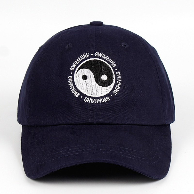 Mac Miller Dad Hat 100% Cotton Swimming Yin and Yang Gossip Embroidered Hat Snapback Baseball Cap For Men And Women Dropship 11
