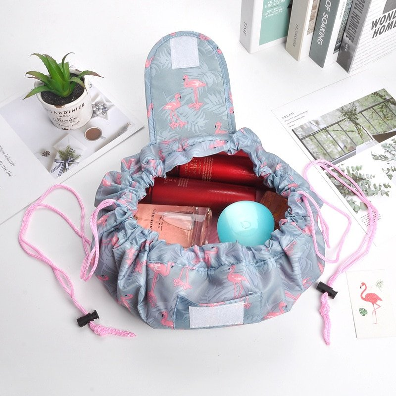 CAP SHOP Women Drawstring Travel Cosmetic Bag Makeup Bag Organizer Make Cosmetic Bag Case Storage Pouch Toiletry Beauty Kit Box COLOR LIPSTICK 1