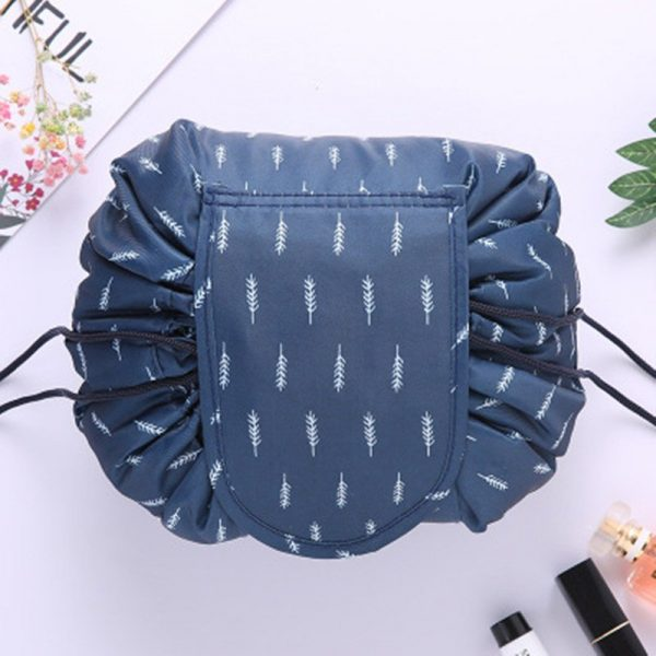 CAP SHOP Women Drawstring Travel Cosmetic Bag Makeup Bag Organizer Make Cosmetic Bag Case Storage Pouch Toiletry Beauty Kit Box COLOR WHITE CACTUS 10