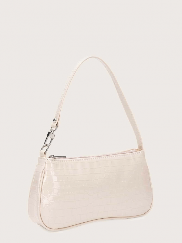 Croc Embossed Baguette Bag COLOR APRICOT - FREE SHIPPING - CAPSHOP.STORE 2