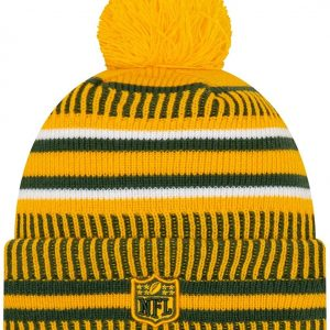 New Era 2019 NFL Green Bay Packers Cuff Knit Hat Home RV Beanie Stocking Cap Pom