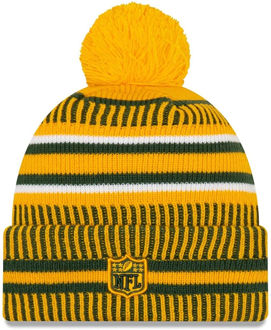 New Era 2019 Nfl Green Bay Packers Cuff Knit Hat Home Rv Beanie Stocking Cap Pom Cap Shop Store Free Shipping Worldwide
