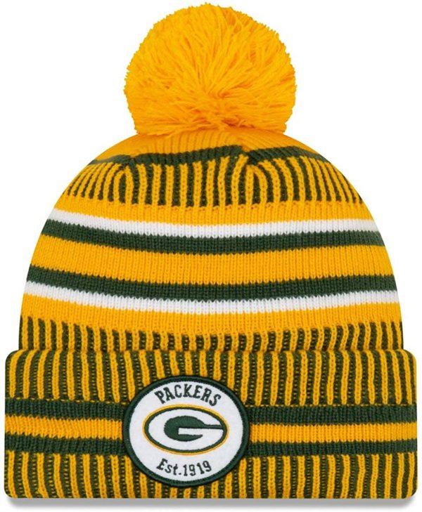 New Era 2019 NFL Green Bay Packers Cuff Knit Hat Home RV Beanie Stocking Cap Pom