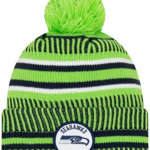 New Era 2019 NFL Seattle Seahawks Cuff Knit Hat REV Home Beanie Stocking Cap Pom