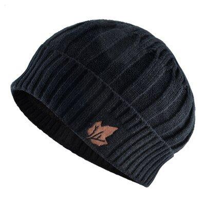 Winter Knitted wool Hats for Men Beanies keep Warm bonnet Maple leaf pattern hat scarf Sets Women Double layer velvet caps gorro