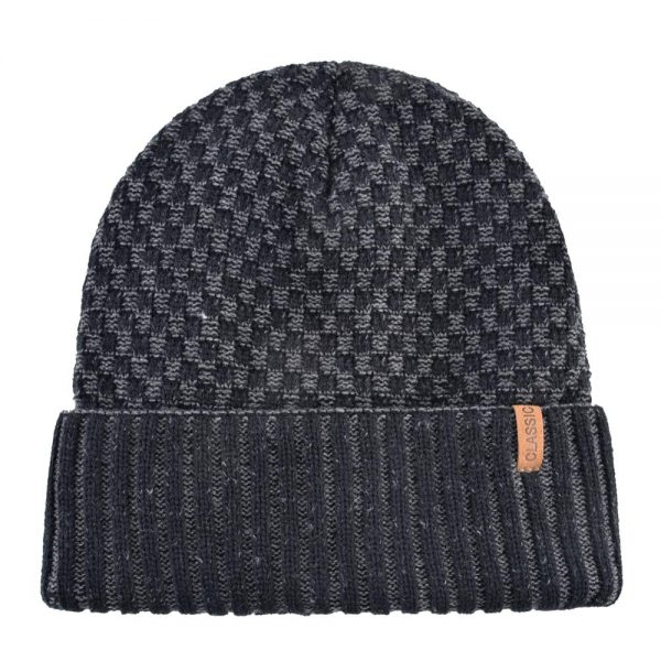 Classic winter Hats For Men Knitted wool Beanies Knitted stripe hat keep Warm bonnet Women Double velvet Caps Hip hop cap gorros
