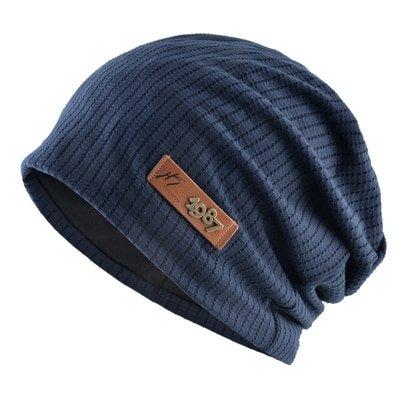 Fashion Metal logo hats Hat For men winter beanies Soft Turban hat Casual Unisex Hip Hop caps men Autumn Ski cap Bonnet gorros