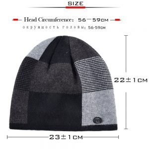 Unisex bonnet Plaid stitching hat men's winter beanies man skullies Knitted wool caps women's Winter Hats Hip Hop caps gorros