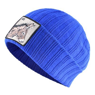 Solid color Winter hats for men Embroidered Donkey pattern Beanies women skiing Bonnet autumn Hip Hop Cap Gorras Thick warm caps