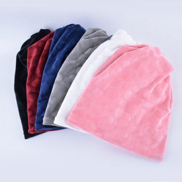 TQMSMY Brand bone flannel hat women winter beanies girls double layer turban hats scarf dual-use caps for women's autumn gorros