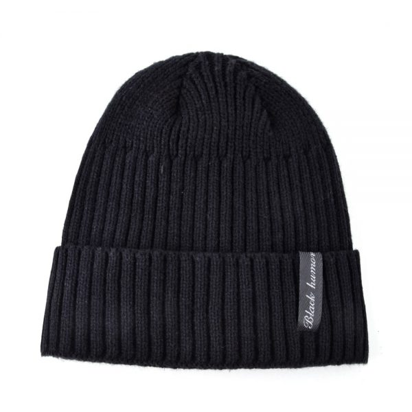 TQMSMY Winter hats for men's beanies Knitted wool skullies solid color bone Double layer gorro keep warm autumn hat men caps