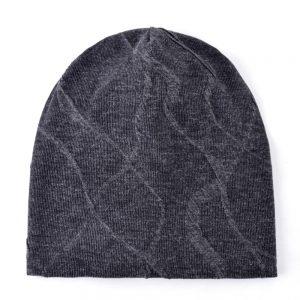 TQMSMY Casual winter beanie men's knitted wool hat soft lengthened skullies double layer hats for men cap plus velvet Touca caps