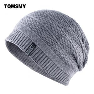 Unisex keep warm winter hats for men knitted wool beanies casual bonnet Double-layer gorro plus velvet cap women hip hop caps