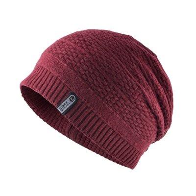 Unisex keep warm winter hats for men knitted wool beanies casual bonnet Double-layer gorro plus velvet cap women hip hop caps
