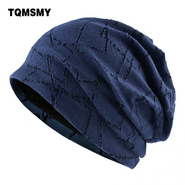 TQMSMY Casual bone Spring cotton hats for women soft and thin skullies Double layer men beanies Turban hat gorros